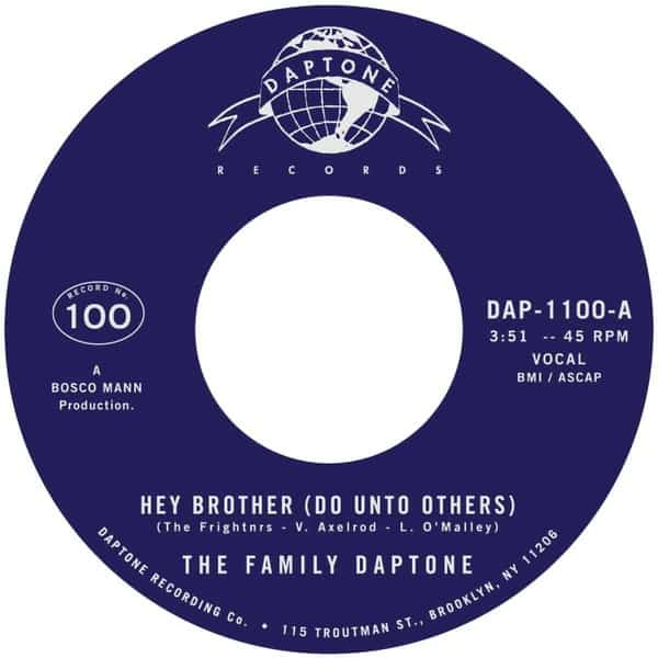 Hey Brother (Do Unto Others) / Soul Fugue by The Family Daptone / The 100 Knights Orchestra