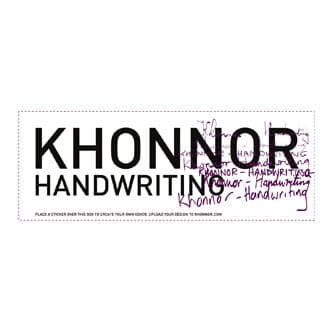 Handwriting by Khonnor