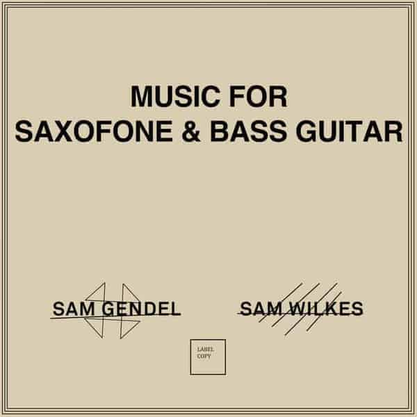 Music for Saxofone & Bass Guitar by Sam Gendel & Sam Wilkes