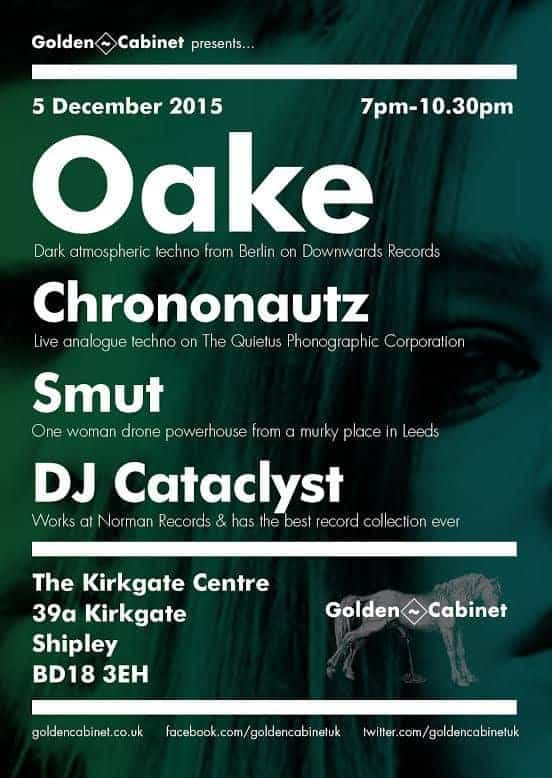 Golden Cabinet, The Kirkgate Centre, Shipley, Saturday 5th December 2015 by OAKE