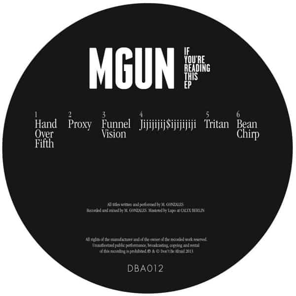 If You're Reading This EP by MGUN