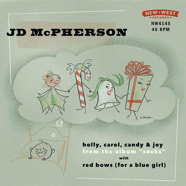 Holly, Carol, Candy & Joy / Red Bows (For A Blue Girl) by JD McPherson