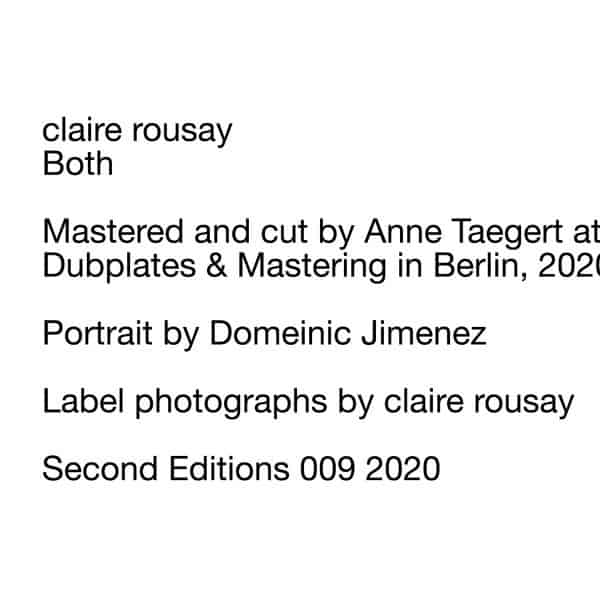 Both by claire rousay