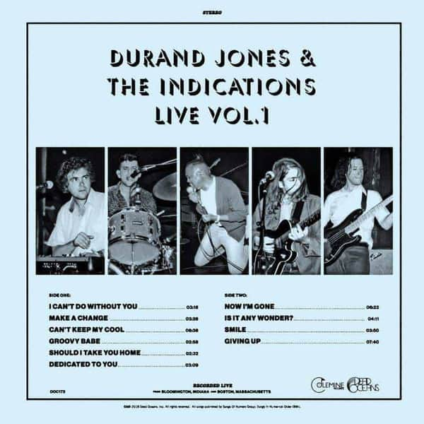 Durand Jones & The Indications Live Vol. 1 by Durand Jones & The Indications