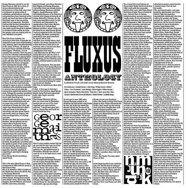 Fluxus Anthology: A Collection Of Music And Sound Events by Various