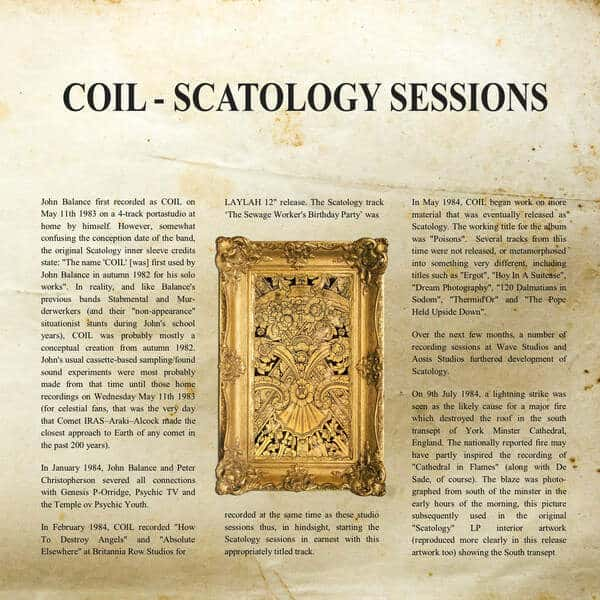 Scatology Sessions by Coil