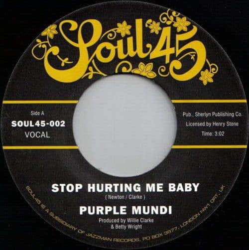Stop Hurting Me Baby/ Man From The Sky by Purple Mundi