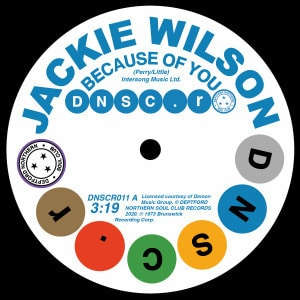 'Because Of You / You Don't Have To Worry' by Jackie Wilson & Doris & Kelley