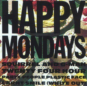 'Squirrel And G-Man Twenty Four Hour Party People Plastic Face Carnt Smile (White Out)' by Happy Mondays
